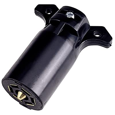 Reese Towpower 74127 Plastic 7-Way Flat Blade Trailer End Connector - Black: Automotive