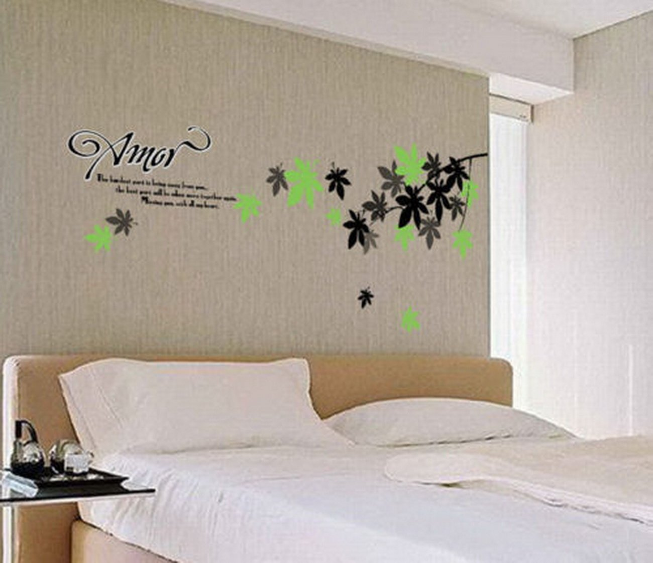 MiAnMiAn Amor Home Decals Removable Wall Stickers DIY Mural Art Decal Vinyl Wallpaper Decor