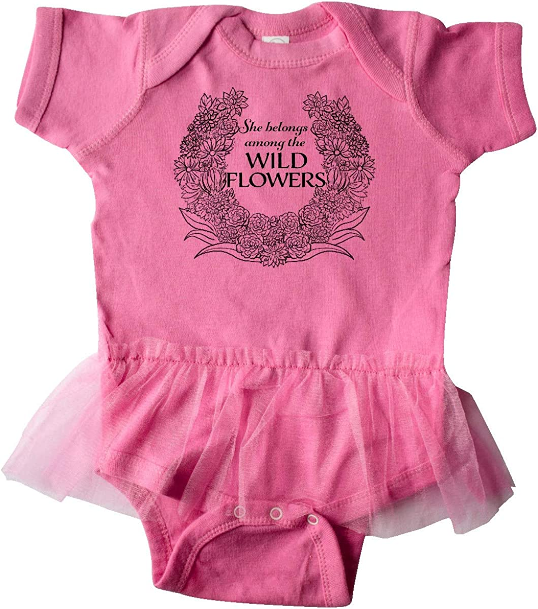 inktastic She Belongs Among The Wild Flowers Infant Tutu Bodysuit
