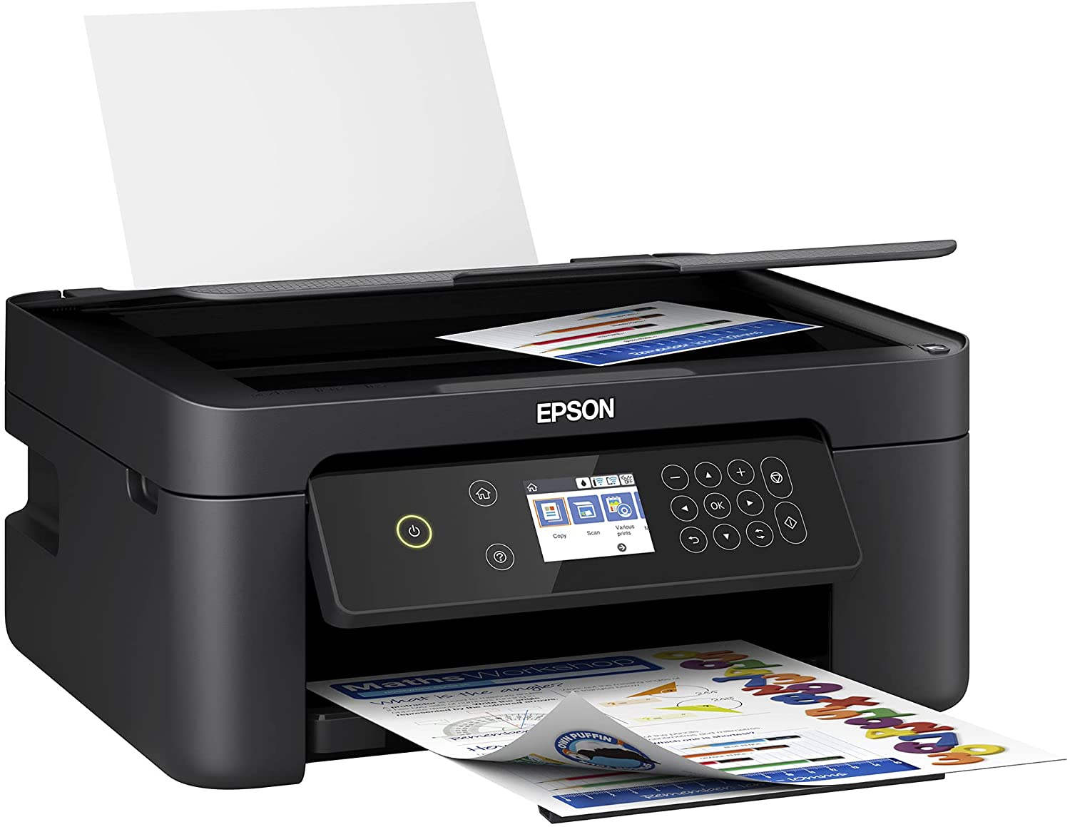 Epson Expression Home XP 4000 Series Wireless All-in-One Color Inkjet Printer/Print, Copy, Scan/Black