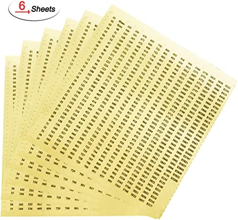 DMC Number Stickers-630 Labels Free USA Shipping! diamond painting or floss