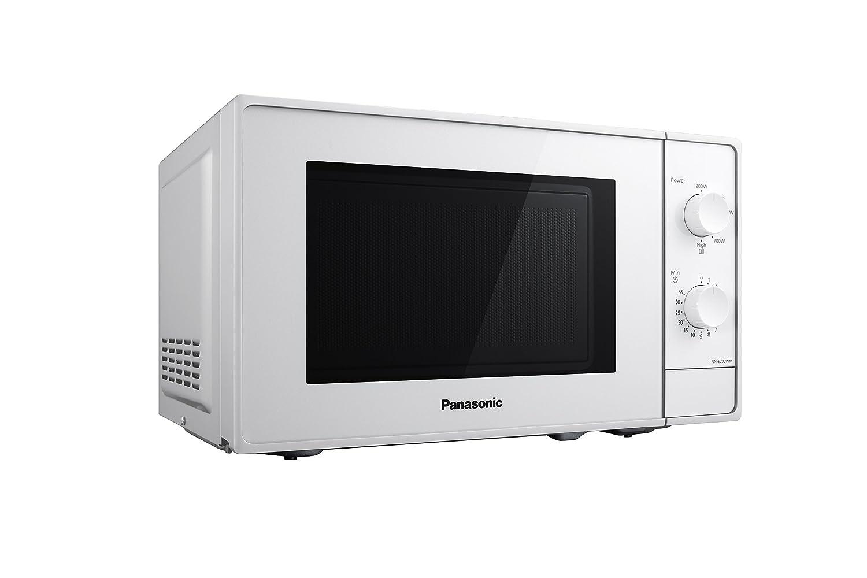 Panasonic NN-E20JWMEPG Microondas Compacto 20L (800 W, 2 Mandos giratorios, Plato giratorio de vidrio 255 mm, 5 Niveles de ajuste de potencia), Color ...