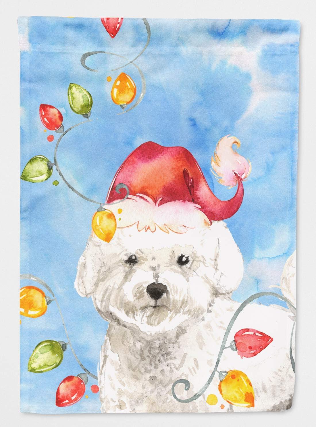 Caroline's Treasures CK2472GF Christmas Lights Bichon Frise Flag Garden Size, Small, Multicolor