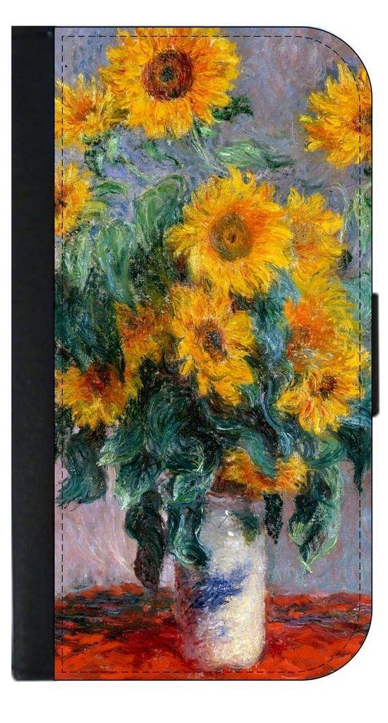 Monet's Sunflowers - Passport Cover / Card Holder for Travel