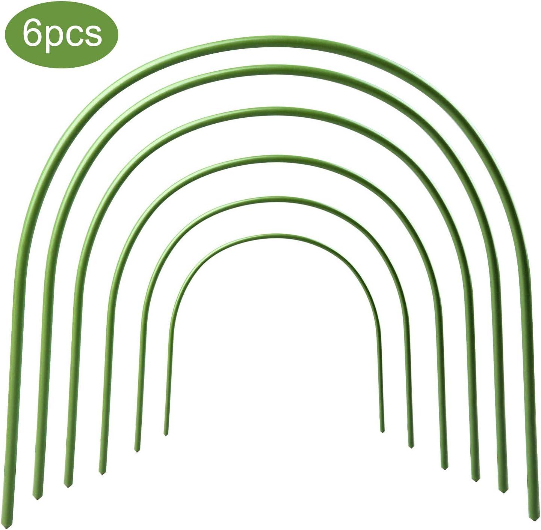 Blanketswarm 6er-Pack Gew/ächshaus-Reifen rostfrei Pflanztunnel mit Kunststoffbeschichteten St/ützreifen Pflanzen-Unterst/ützung Gartenpf/ähle f/ür Kletterpflanzen