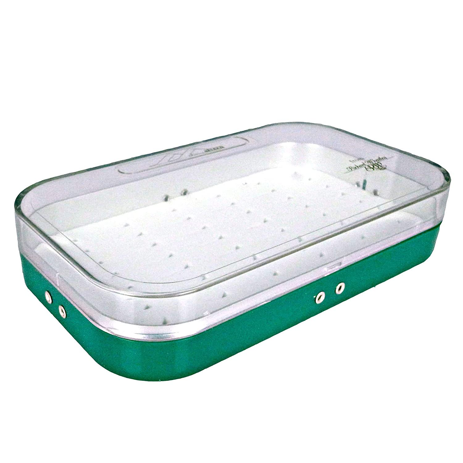 Richard Wheatley Malvern Plastic Fly Box Green//Clear Lid