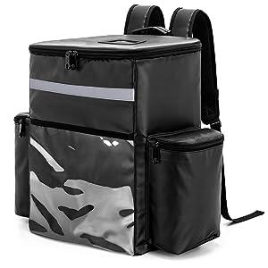 Trunab Insulated Leakproof Food Delivery Backpack Cooler Backpack Waterproof Cooler Bag for Men Women, for Beach, Picnic, Camping, Uber Eats, Doordash, 30 Cans
