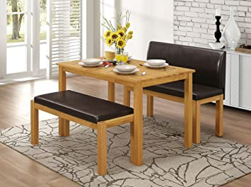 Greenheart Furniture UK Ireland Dining Table 2 Bench Set
