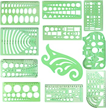 Ellipse Drafting Drawing Stencil Mechanical Ruler Oval Round Template US