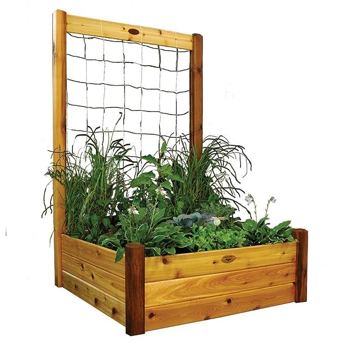 Gronomics Raised Garden Bed, cm por cm por 19 Pulgadas de 121, 9 ...