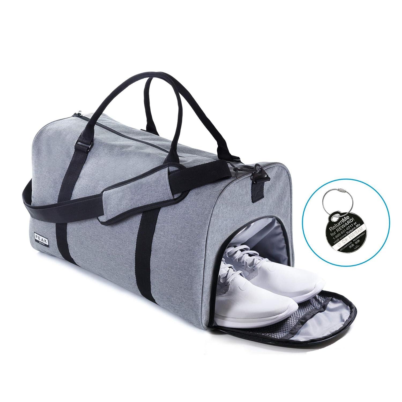 590305a37ae5 Amazon.com  The Weekender Duffel Bag - Travel Bag Duffle Bag - Lifetime  Lost   Found ID  Peak Gear
