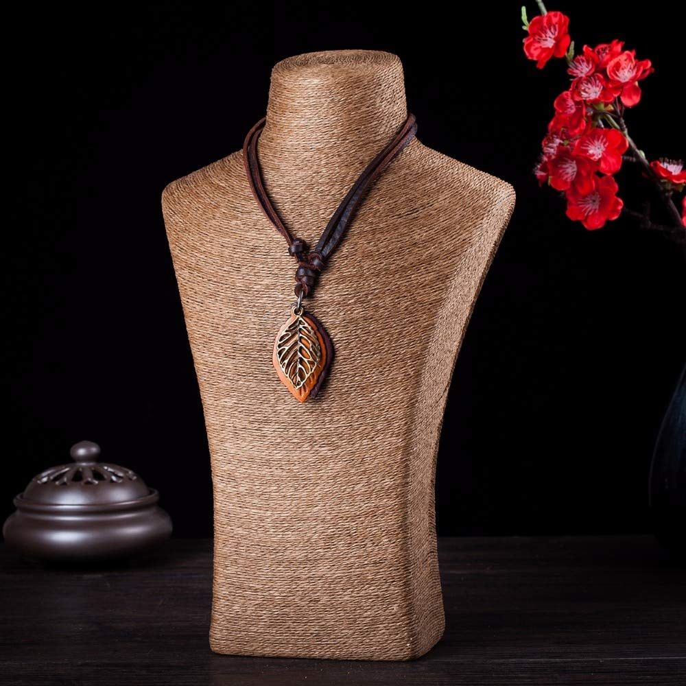 Mens necklace Jewelry Statement Necklaces /& Pendants Kolye Women Leather Necklace Collier Collares Choker Colar,Leavies Femme Necklace Women