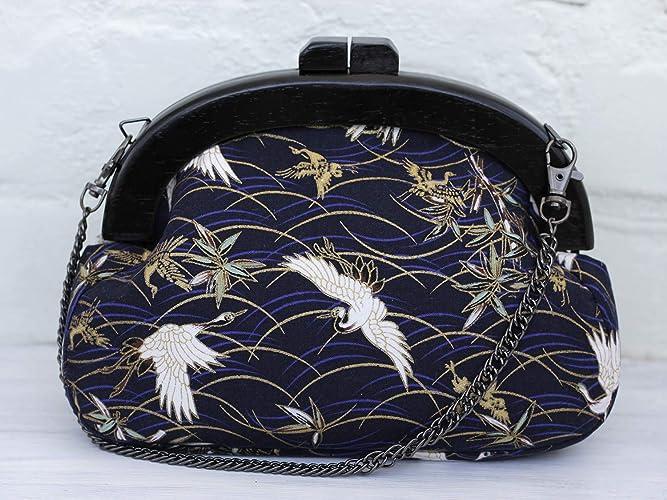 Amazoncom Clutch Purse Handbag Wooden Frame Evening Clutch With