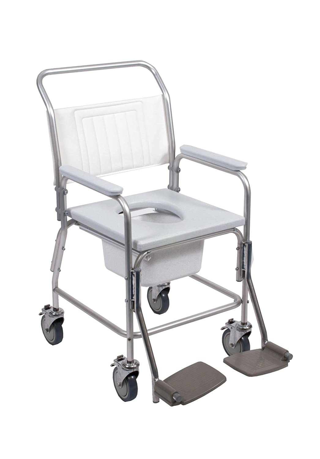 NRS Healthcare Portable Shower, Commode and Over Toilet Chair ...