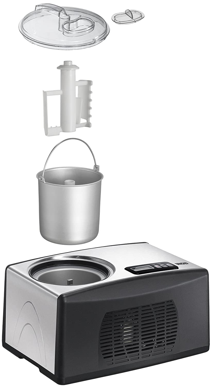 Amazon.de: UNOLD Eismaschine Cortina, mit Kompressor, 1, 5 Liter ...