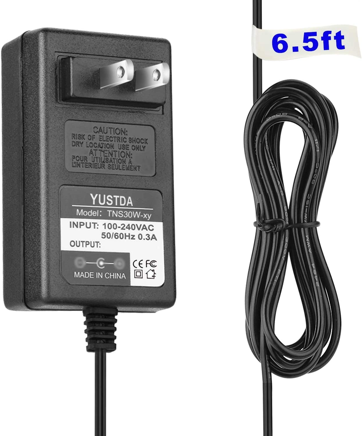 """Wall Charger for EVOO 11.6"""" EV-EL2in1-116-2 TEV-L2IN1-116-2-SL TEV-L2IN1-116-2 Convertible Touch Screen Laptop Elite Series Windows 10 32GB (AC Power Supply Adapter 6.5' Long Cord)"""