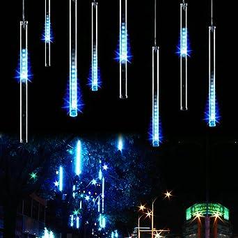 420 LEDs Lichterregen Lichterkette Meteor Effekt Meteorschauer 10 x 80 cm NEU