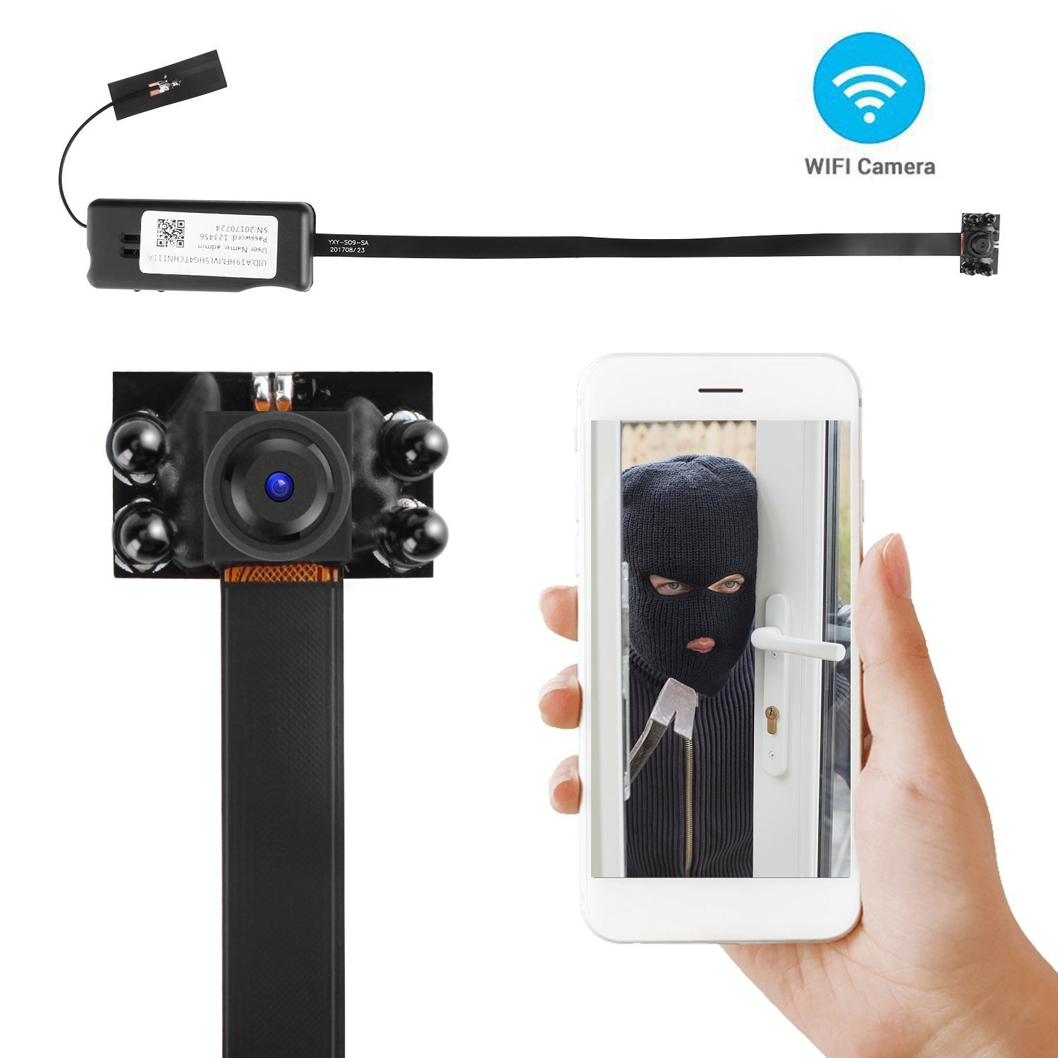 nanny cam iphone vision hd 1080p wifi alon diy 12673