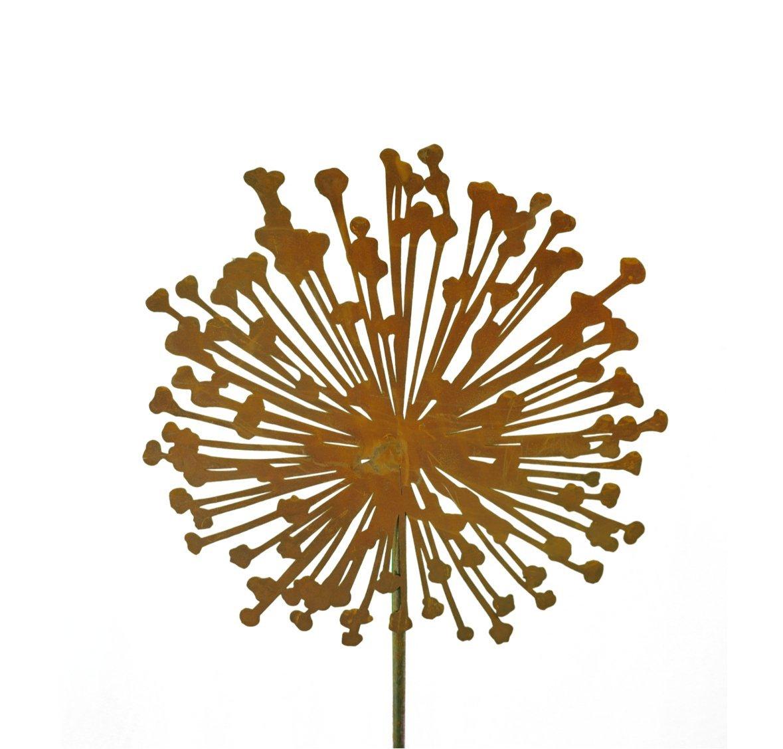Metallmichl Edelrost Blumenstecker Allium 30cm Durchmesser (flach ...