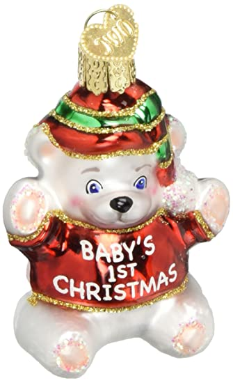 Old World Christmas Ornaments Baby S 1st Christmas Glass Blown Ornaments For Christmas Tree