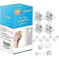 Vmaisi - Cerraduras magnéticas para gabinetes y cajones de seguridad para niños, 4 unidades