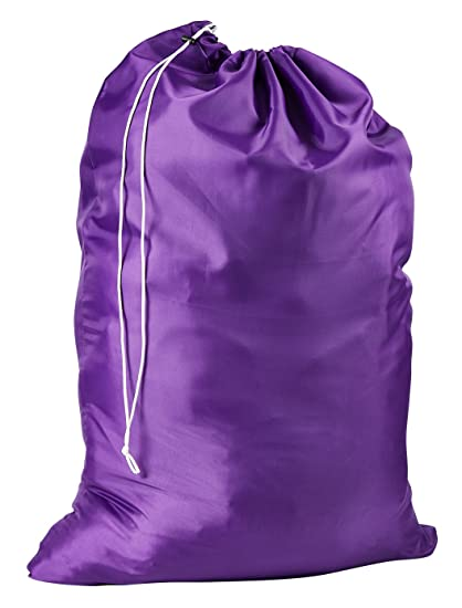 a582f6514fd47 Nylon Laundry Bag - Locking Drawstring Closure and Machine Washable. These  Large Bags Will Fit