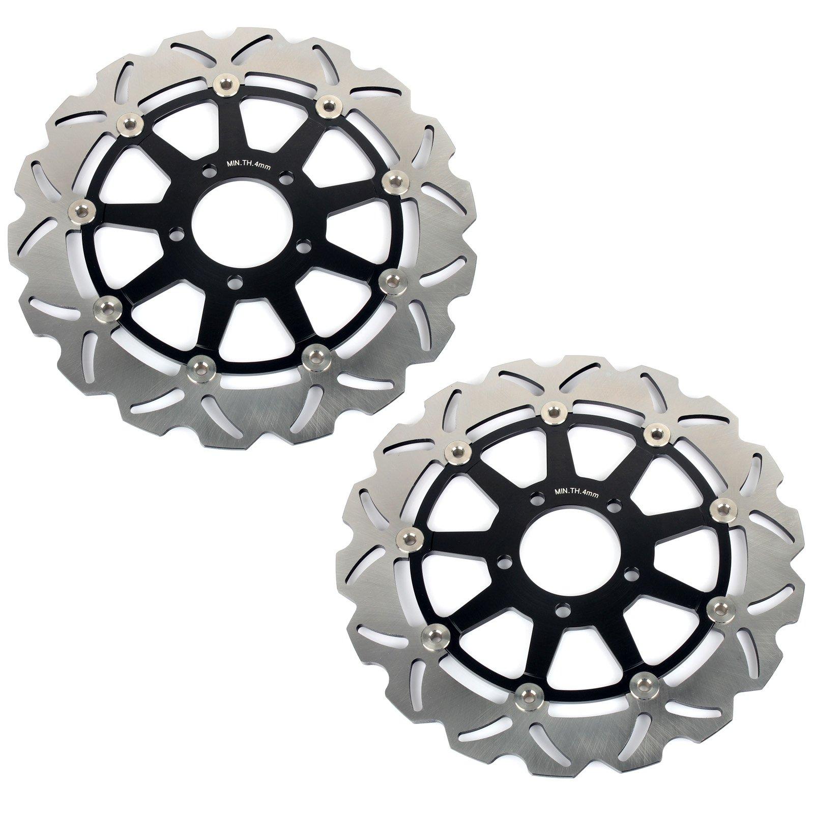 GSXR Front Brake Discs Rotors for Suzuki GSXR600 GSXR750 1997-2003 GSXR1000 2001 2002 Hayabusa GSX1300R 1999-2007 TL1000R TL1000S 98-01 by TARAZON (Image #2)