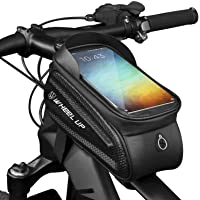 SWIPPLY Bike Accessories Bike Bag Bicycle Bag Frame Front Waterproof Pouch Cycling Handlebar Tube Bag Touch Screen…