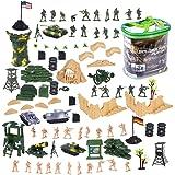 deaAO Armee-Verteidigungseinheitsspielset- Soldatenspielfiguren, Fahrzeuge und weiteres Zubehör( 100-teiliges Set)