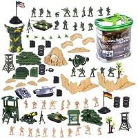 deAO Soldats au Bataille Forces Armées Unité de Défense Militaire Figurines d'Action Collectables Soldats, Véhicules et Accessoires Plus de 100 Pièces au Total