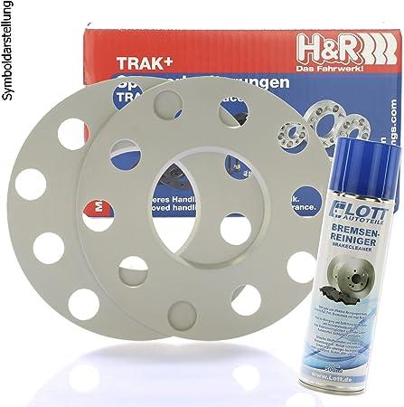 H R Dr Spurplatten Spurverbreiterung Lochkreis 5x112 10mm 2x5mm Bremsenreiniger Auto