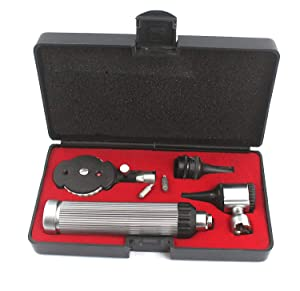OdontoMed2011 Otoscope Set ENT Instruments with,2 Free Bulb,Free Carrying CASE,LOT of Extra Quality Instruments