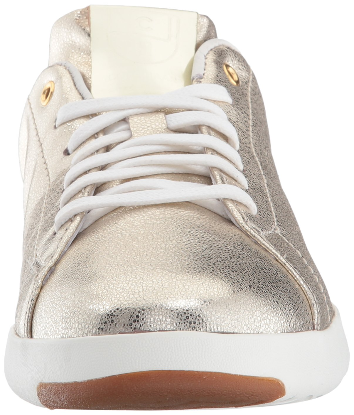 Cole Haan Women's Grandpro Tennis Leather Lace OX Fashion Sneaker B06ZYLL11L 6.5 B(M) US Platino Glitter