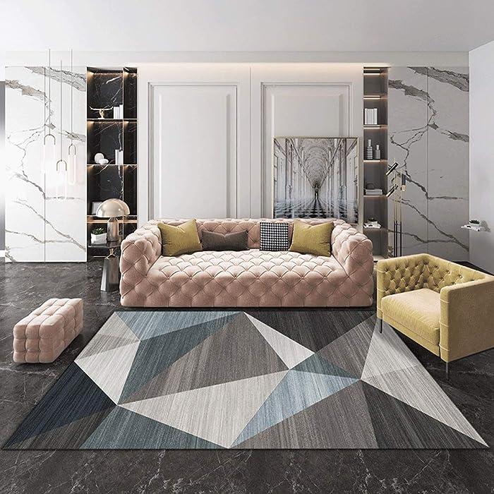QUD Multicolor Glamour Collection Non-Slip Moroccan Trellis Design Runner Rug Home Decor 7/13 (Color : U, Size : 80cmX160cm)