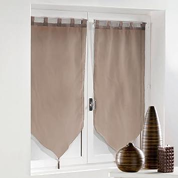 Douceur d\'Intérieur Vorhänge mit Schlaufen, aus Polyester, Taupe ...