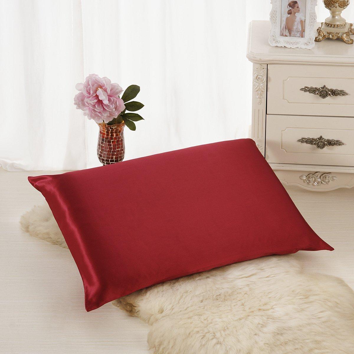 (Standard, Charcoal Gray) ALASKA BEAR Natural Silk Pillowcase, Hypoallergenic, 19 momme, 600 thread count 100 percent Mulberry Silk, Standard Size with hidden zipper (1, Charcoal Grey) B06XJ1D99L 標準,チャコールグレー