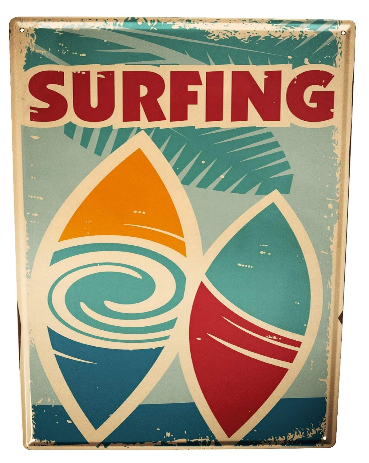 Tin Sign XXL metal plate plaque Sports Surfing