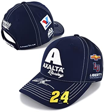 Checkered Flag William Byron 2018 Axalta Racing Uniform NASCAR Hat ... cef9a3b6150f