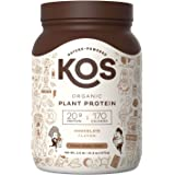 KOS Organic Plant Based Protein Powder – Raw Organic Vegan Protein Blend, 2.6 Pound, 30 Servings (Chocolate)