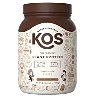 KOS Organic Plant Based Protein Powder – Raw Organic Vegan Protein Blend, 2.6 Pound...
