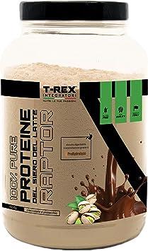 Whey Protein RAPTOR | Proteína de Suero de leche Aislada/Concentrada | VOLAC | Sabor PISTACHO y CHOCOLATE - 1 kg Pack | T-Rex Integratori 100% ...
