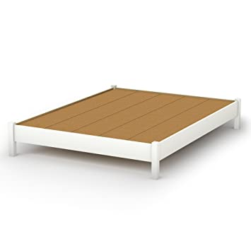 queen platform bed frame amazon plans with drawers south shore sandbox collection inch pure white