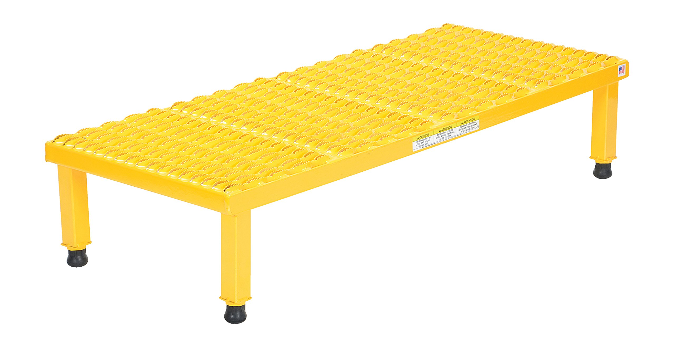 Vestil AHW-H-1948 Adjustable Work-Mate Stand with Serrated Deck, Steel, 48'' Length x 19'' Width Deck, 500 lbs Capacity, 9'' - 14'' Height Range