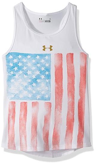 b1bb682ab88d5 Amazon.com  Under Armour Girls  Little Watercolor Flag Tank  Clothing