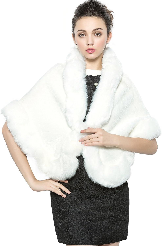 MISSYDRESS Faux Fur Shawl...
