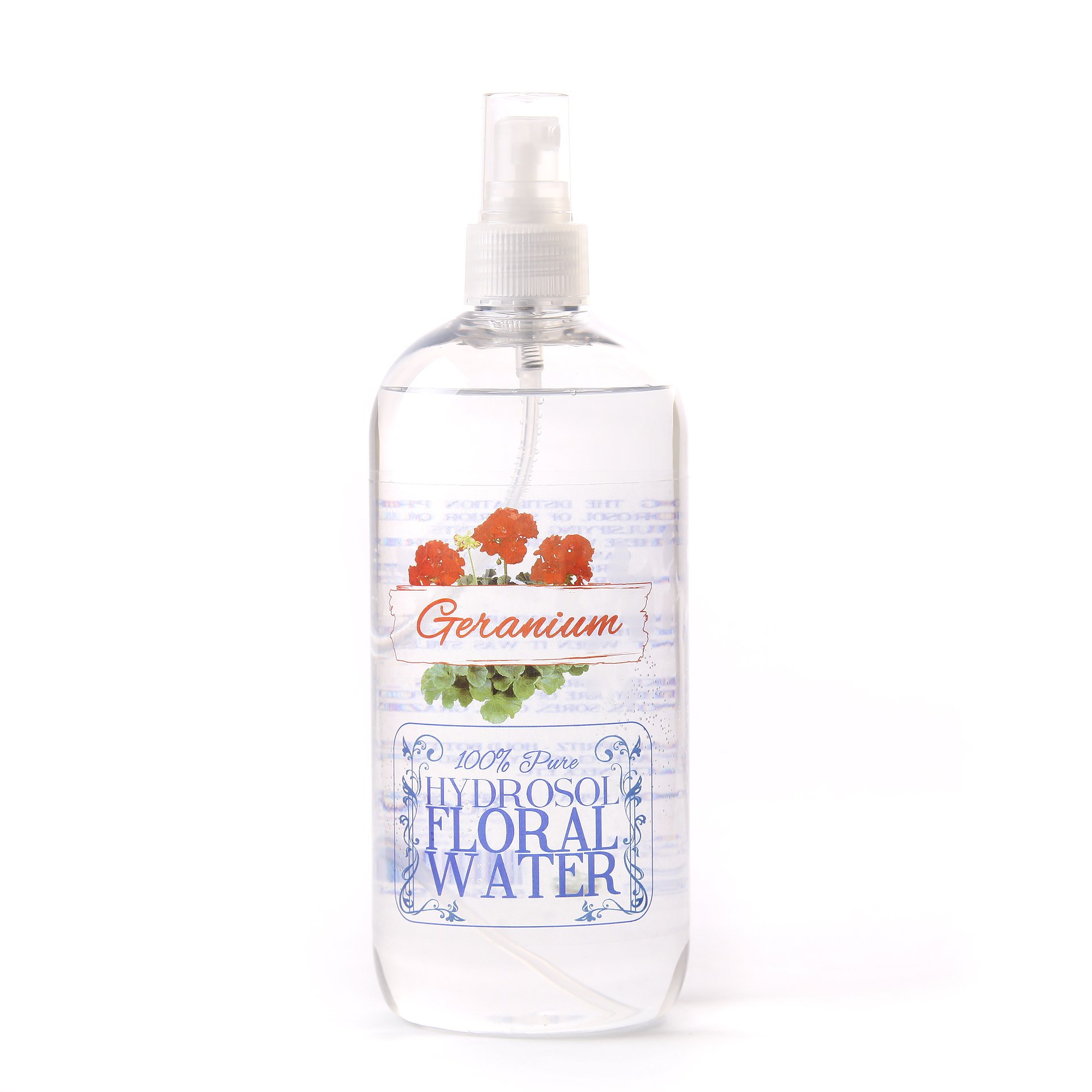 Mystic Moments Geranium Hydrosol Floral Water with Spray Cap - 1 Litre by Mystic Moments