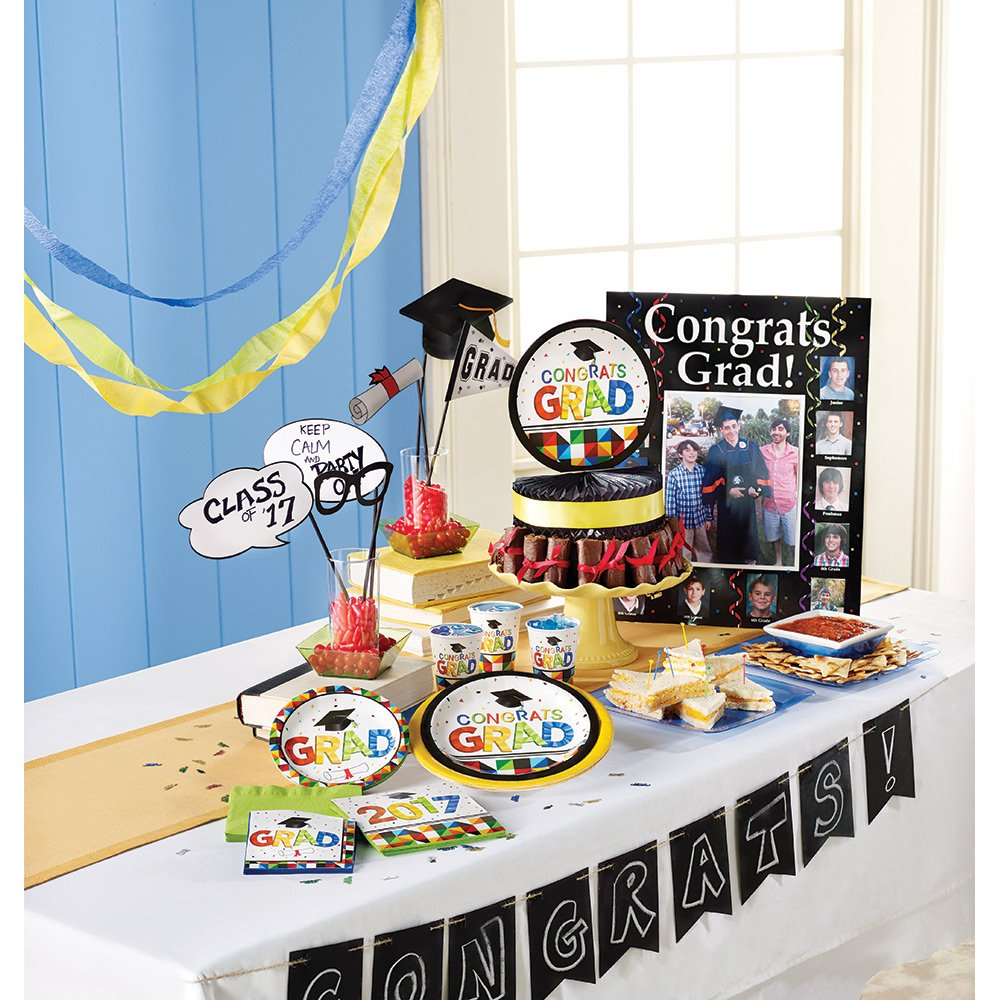 Creative Converting 36 Count Paper Lunch Napkins for Graduation Party Fractal Fun 320007