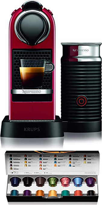 Nespresso Citiz XN7615 Roja EU, Acero Inoxidable, Citiz&Milk ...