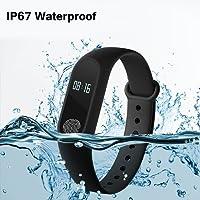Bingo M2 Waterproof Smart Fitness Band (Black)
