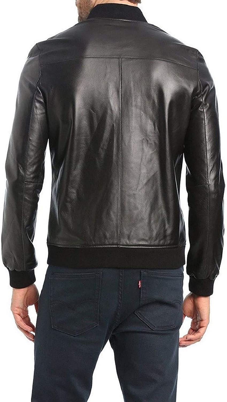 brandMe Mens Genuine Leather Pure Lambskin Biker Jacket MM445